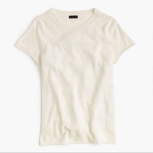 J.Crew | 🐐 Cashmere short sleeve tee cream color